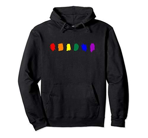Minimal LGBT Pride Flag Strokes Pullover Hoodie