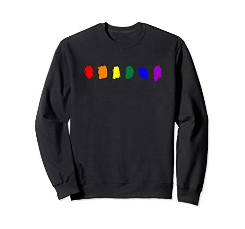 Minimal LGBT Pride Flag Strokes Sweatshirt
