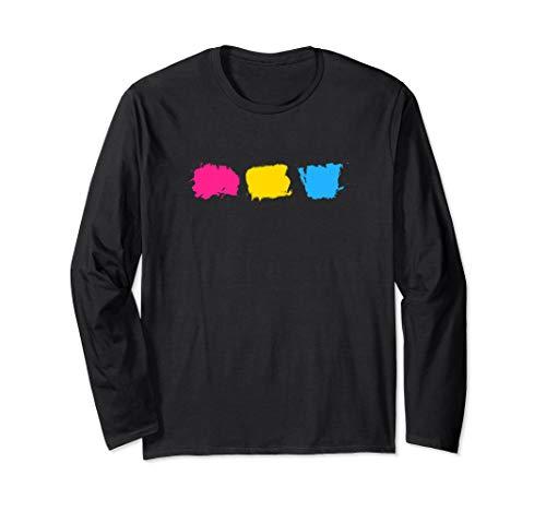 Minimal Pansexual Pride Flag Stroke Long Sleeve T-Shirt