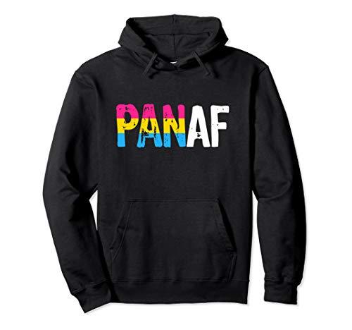 PAN AF Pan as Fuck Pansexual Pride Flag Pullover Hoodie