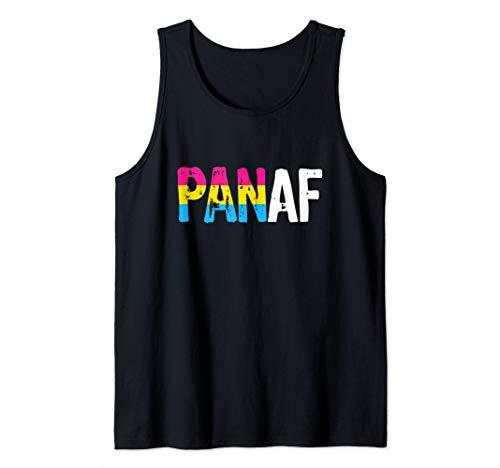 PAN AF Pan as Fuck Pansexual Pride Flag Tank Top