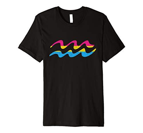 Pansexual Pride Flag Aquarius Zodiac Sign Premium T-Shirt