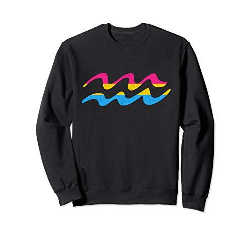 Pansexual Pride Flag Aquarius Zodiac Sign Sweatshirt