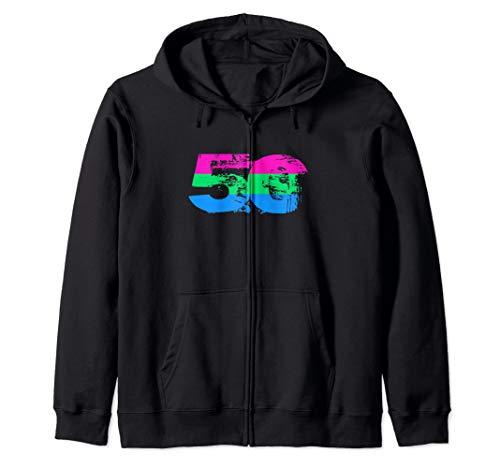 Polysexual Grunge 50 Pride Flag Zip Hoodie