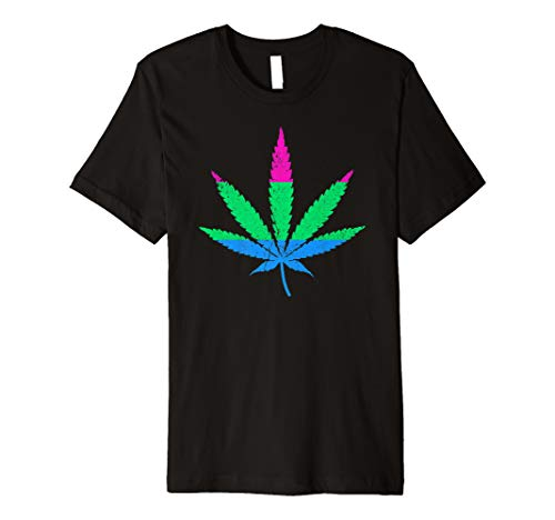 Polysexual Pride Flag Marijuana Pot Leaf Premium T-Shirt