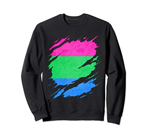 Polysexual Pride Ripped Reveal Sweatshirt
