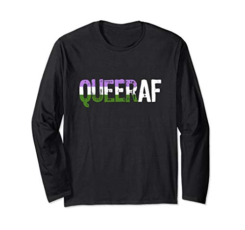 QUEER AF Queer as Fuck Genderqueer Pride Long Sleeve T-Shirt