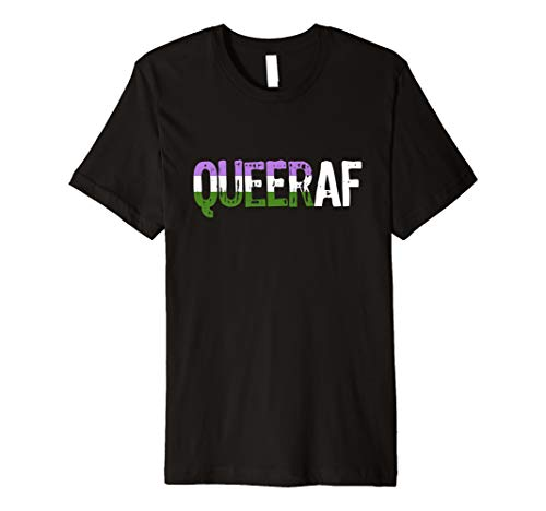 QUEER AF Queer as Fuck Genderqueer Pride Premium T-Shirt