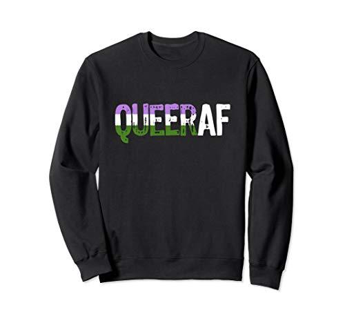 QUEER AF Queer as Fuck Genderqueer Pride Sweatshirt