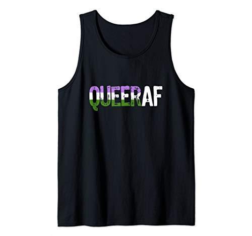 QUEER AF Queer as Fuck Genderqueer Pride Tank Top
