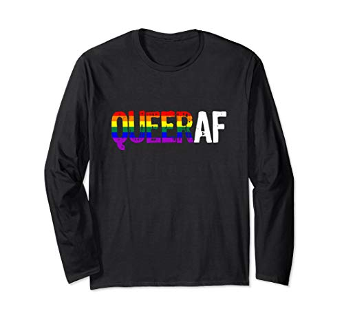 QUEER AF Queer as Fuck LGBTQ Pride Long Sleeve T-Shirt