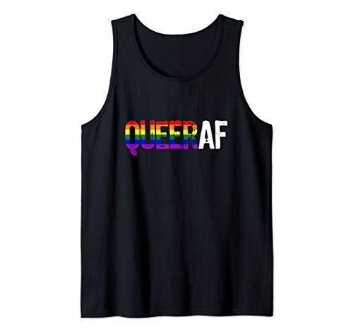 QUEER AF Queer as Fuck LGBTQ Pride Tank Top