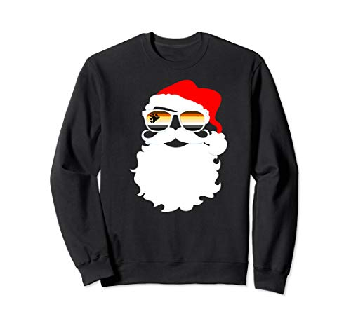 Santa Claus Gay Bear Pride Flag Sunglasses Sweatshirt