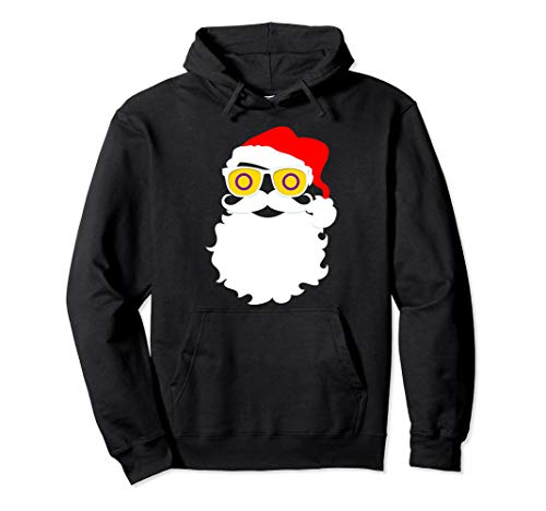 Santa Claus Intersex Pride Flag Sunglasses Pullover Hoodie