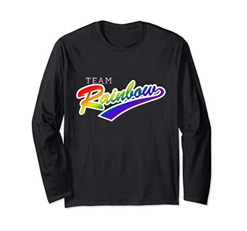 Team Rainbow LGBTQ Gay Pride Long Sleeve T-Shirt