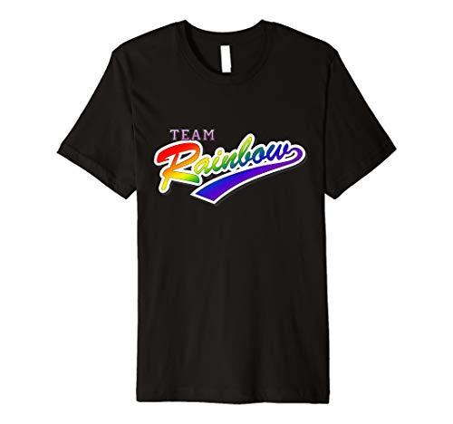 Team Rainbow LGBTQ Gay Pride Premium T-Shirt