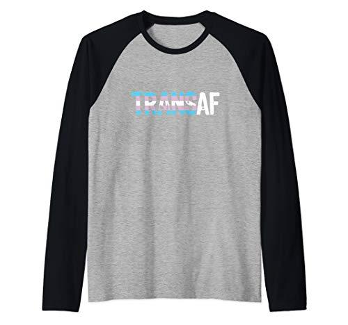TRANS AF Trans as Fuck Transgender Pride Raglan Baseball Tee