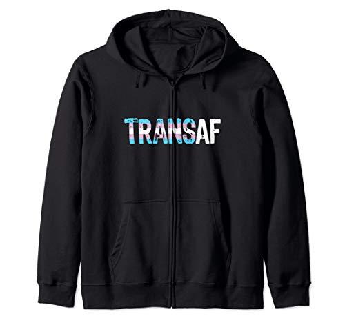 TRANS AF Trans as Fuck Transgender Pride Zip Hoodie