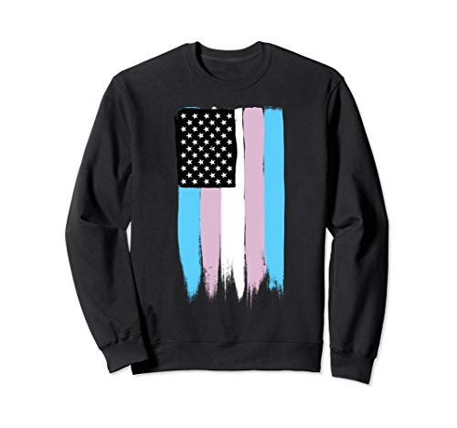 Transgender Pride Stars and Stripes Flag Sweatshirt