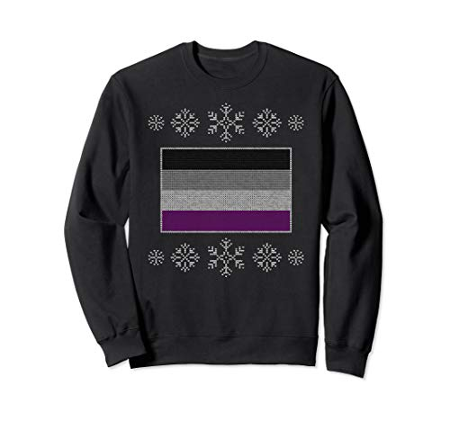 Ugly Christmas Asexual Pride Flag Design Sweatshirt