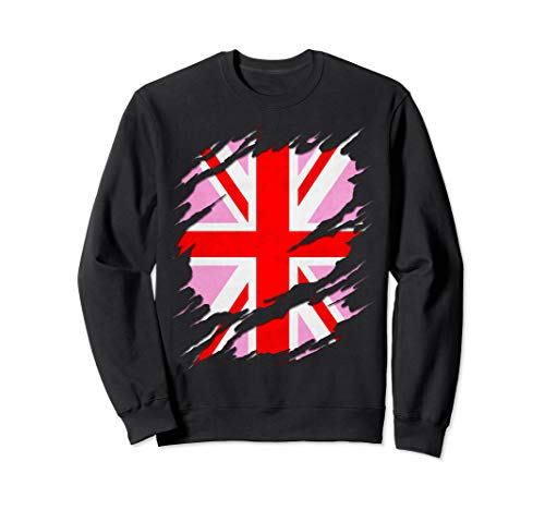 UK Pink Jack Ripped Reveal Sweatshirt
