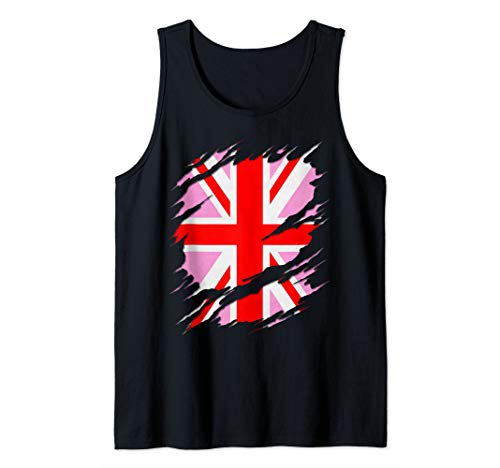 UK Pink Jack Ripped Reveal Tank Top
