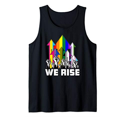 We Rise LGBTQIA Pride Flags Tank Top