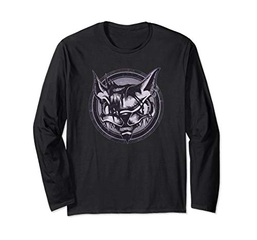 Wild Cat Grunge Animal Long Sleeve T-Shirt