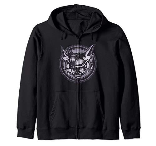 Wild Cat Grunge Animal Zip Hoodie