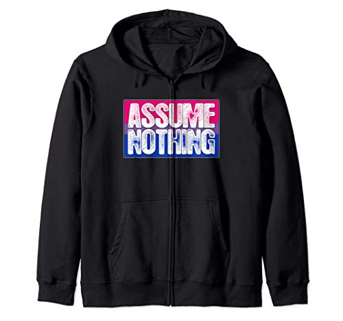 Assume Nothing Bisexual Pride Flag Zip Hoodie