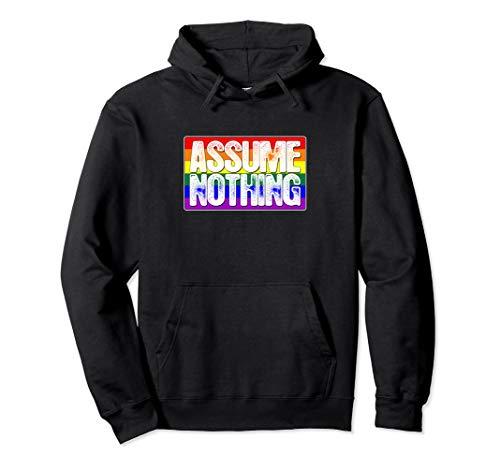Assume Nothing LGBT Gay Pride Flag Pullover Hoodie