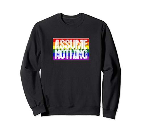 Assume Nothing LGBT Gay Pride Flag Sweatshirt