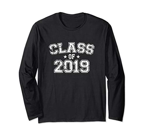 Distressed Class of 2019 Long Sleeve T-Shirt