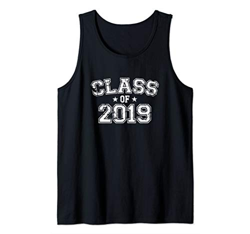 Distressed Class of 2019 Tank Top