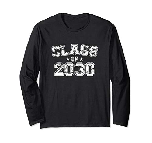 Distressed Class of 2030 Long Sleeve T-Shirt