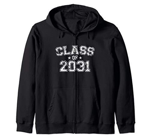 Distressed Class of 2031 Zip Hoodie