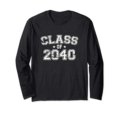 Distressed Class of 2040 Long Sleeve T-Shirt