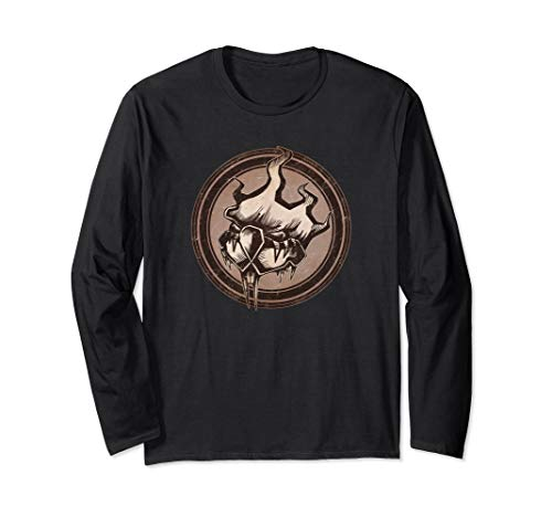 Distressed Wild Beaver Stamp Long Sleeve T-Shirt