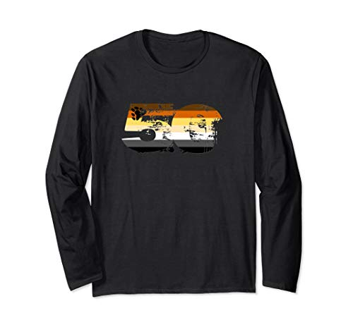 Gay Bear Grunge 50 Pride Flag Long Sleeve T-Shirt