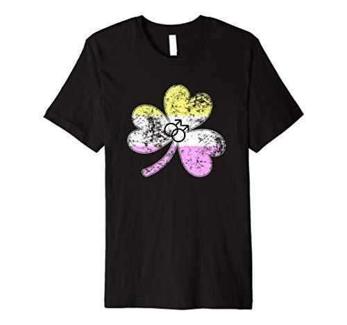 Gay Twink Shamrock Pride Flag Premium T-Shirt