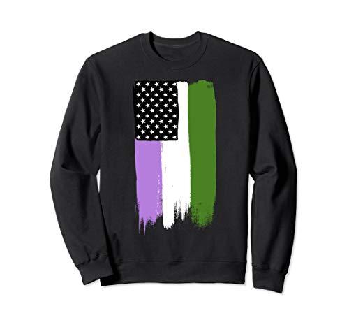Genderqueer Pride Flag Stars and Stripes Flag Sweatshirt