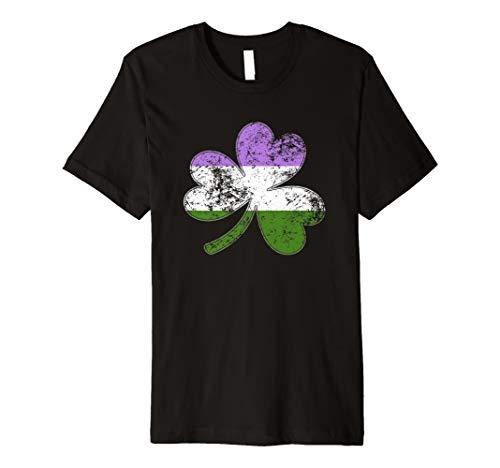 Genderqueer Shamrock Pride Flag Premium T-Shirt