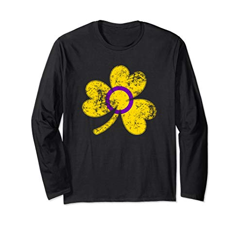 Intersex Shamrock Pride Flag Long Sleeve T-Shirt