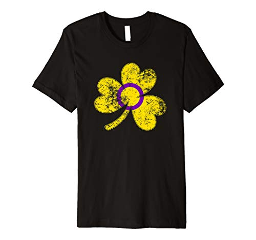 Intersex Shamrock Pride Flag Premium T-Shirt