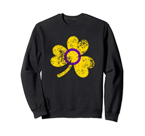 Intersex Shamrock Pride Flag Sweatshirt