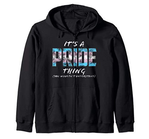 It's a Pride Thing - Transgender Pride Flag Zip Hoodie