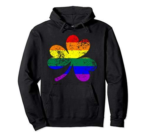LGBTQ Shamrock Pride Flag Pullover Hoodie