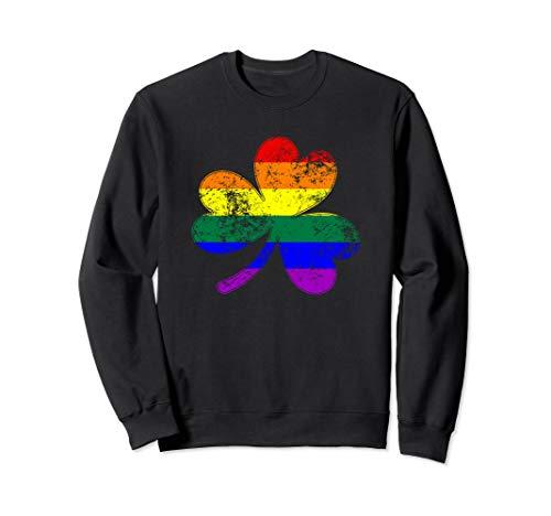 LGBTQ Shamrock Pride Flag Sweatshirt