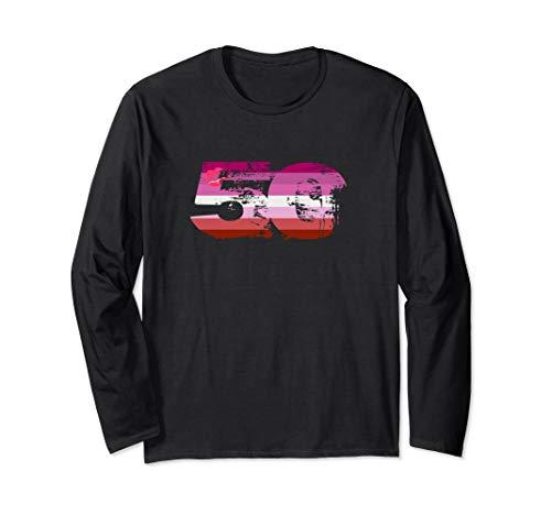 Lipstick Lesbian Grunge 50 Pride Flag Long Sleeve T-Shirt