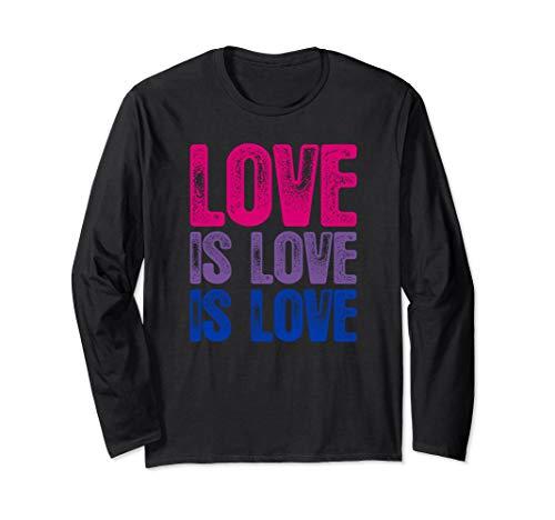Love is Love is Love Bisexual Pride Long Sleeve T-Shirt